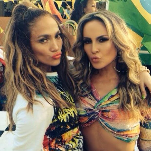 Jennifer Lopez e Claudia Leitte (Foto: Instagram / Reprodução)