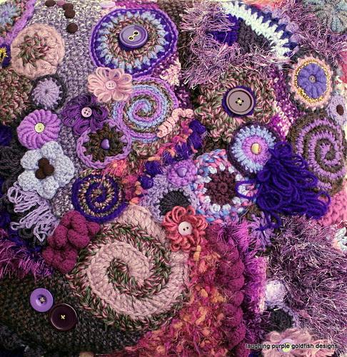 Purple Freeform Cushion