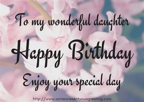 Birthday Wishes for Daughter ? Someone Sent You A Greeting