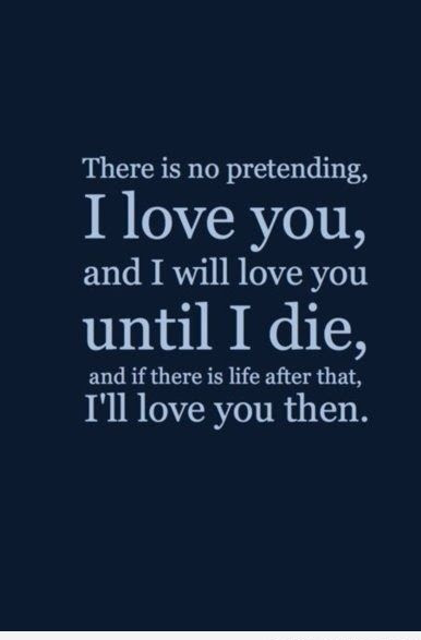 Love You Till Die Serious Love Quote For Girlfriend