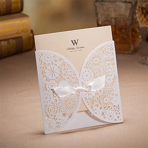 Wholesale Wholesale Elegant Hollow Laser Cut Wedding