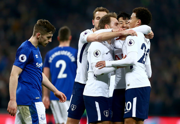 Image result for Christian Eriksen and Heung-Min Son harry kane