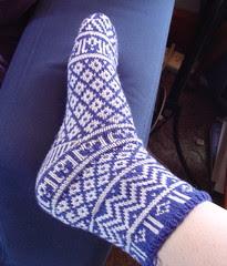 Mamluke socks - side (modeled)