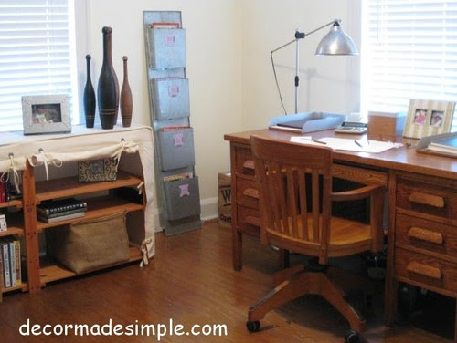 DecorMadeSimple eclectic home office