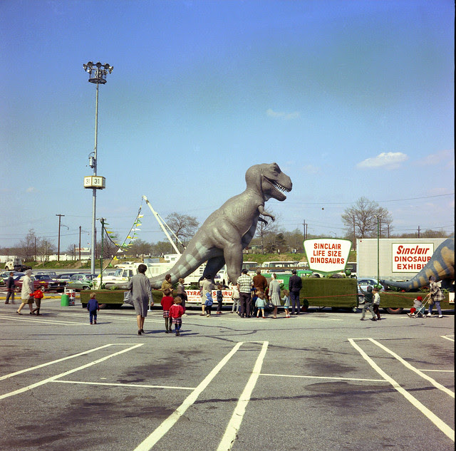 Found Photo - Sinclair Dinosaurs