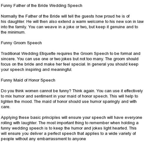 All kind of Best Wedding Speeches : Wedding Reception