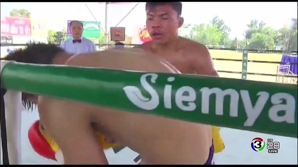 เพชรใหม่ ก่อเกียรติชูชีพยิมส์ vs ฉางหยินเซียน ศึกแรดโกลด์ กำปั้นสะท้านโลก 23/2/2560 Muaythai - YouTube