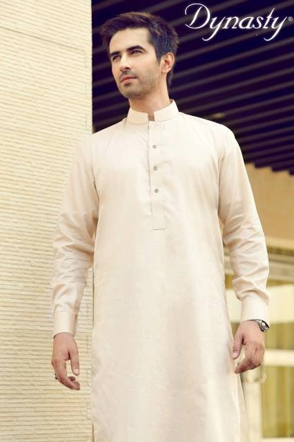 Mens-Wear-Cotton-Embroidered-Kurta-Pajama-By-Dynasty-Fabrics-New-Fall-Collection-2013-14-12