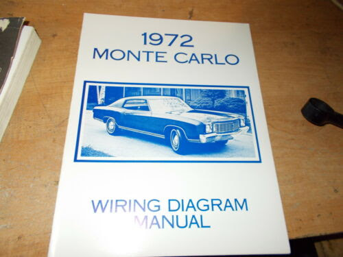 1972 Chevrolet Monte Carlo Wiring Manual Other Car Manuals Vehicle Parts Accessories