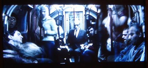 Sir Ian McKellen on the Tube - screengrab