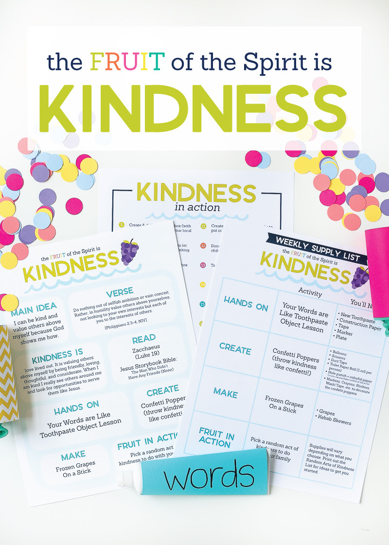 The Fruit Of The Spirit Is Kindness Kids Activities By The Littles Me