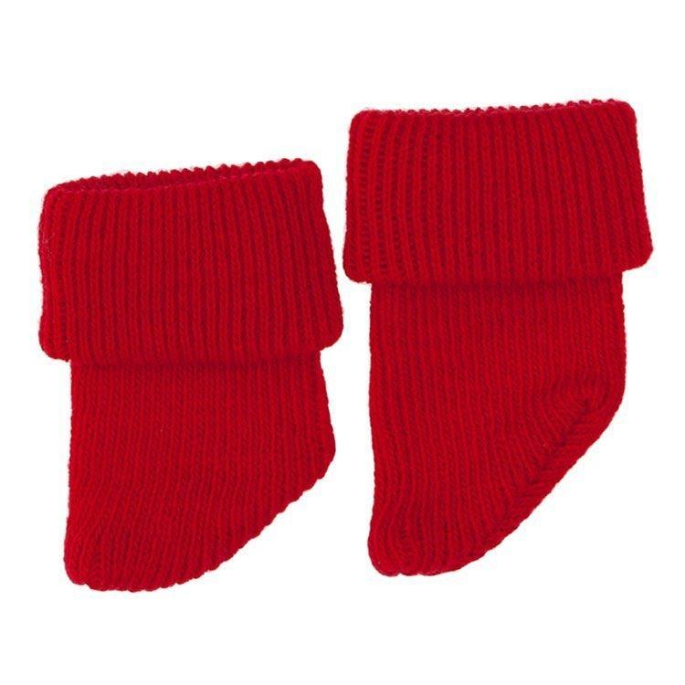 Foto peúcos rojos para muñecos de 36 a 46 centímetros de la marca de muñecos Así