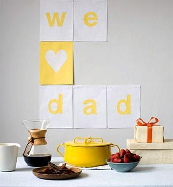 Ambientando la casa para el Día del Padre