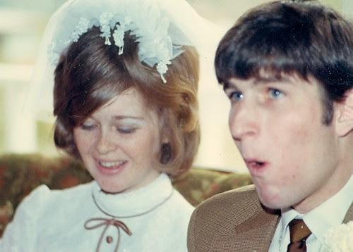 Ruth & Ellis on their wedding day