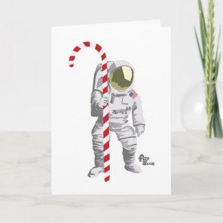 Astronaut Holiday Card