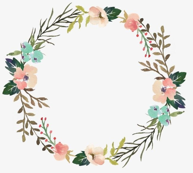 Flower Border Bunga Lingkaran Simple