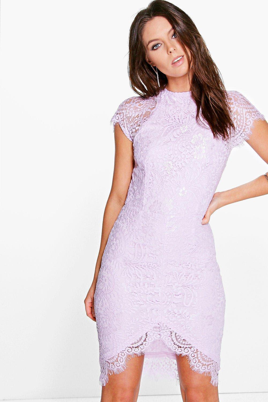 Template boohoo eyelash lace bodycon dress