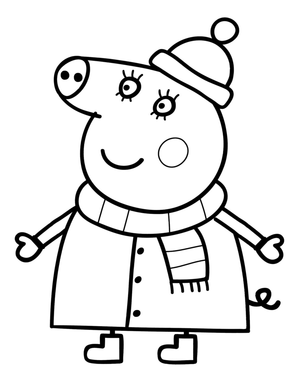 Coloriage peppa pig gratuit dessin a imprimer 68