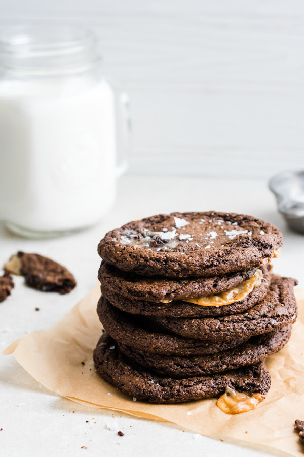 Your weekend plans only got a whole lot tastier caramel-stuffed chocolate cookies