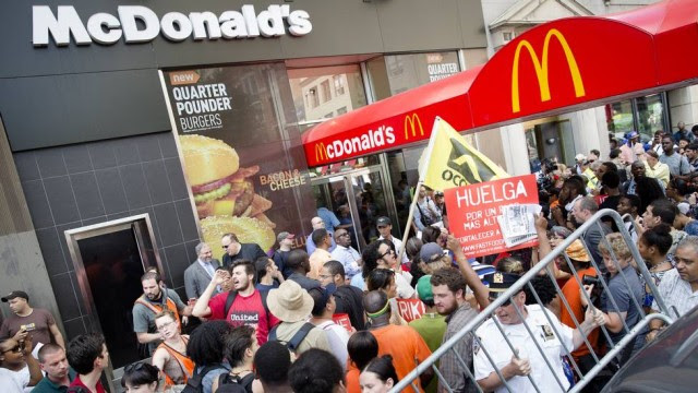 greve fast food eua
