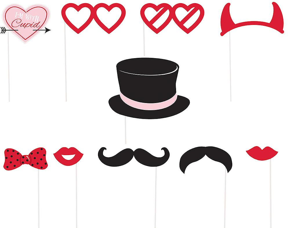 10 Im With Cupid Photo Booth Props Valentines Day Parties Fruugo