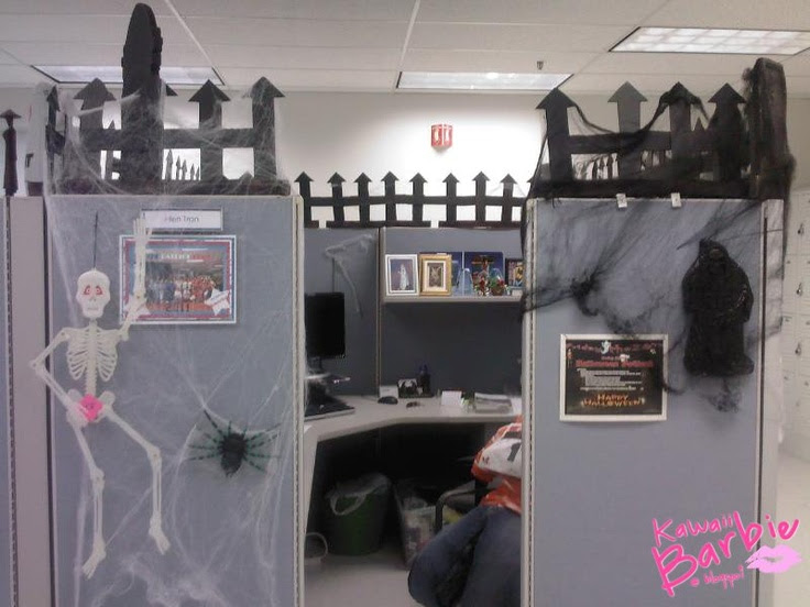74 Best Halloween Work Decorations Images Halloween Cubicle