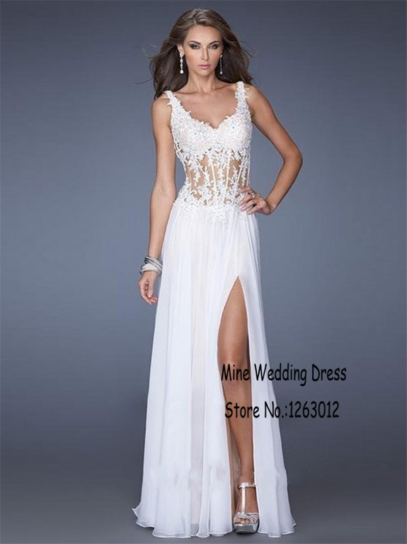 White corset cocktail evening dress