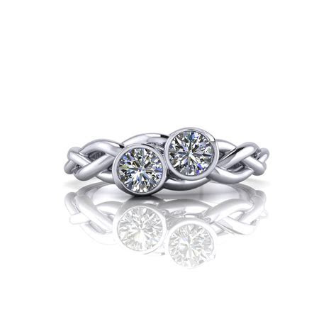 Braided Two Diamond Ring   Jewelry Designs