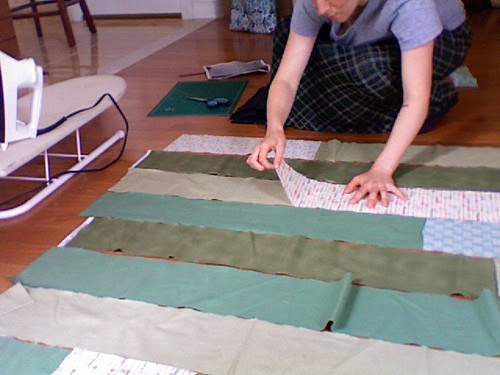 piecing my easy lap quilt