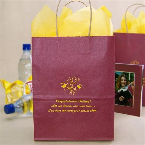 8 x 10 Custom Printed Graduation Party Gift Bags (Set of 25)
