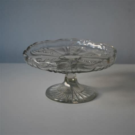 Small Vintage Glass Cake Stand   Little Bear Cakery