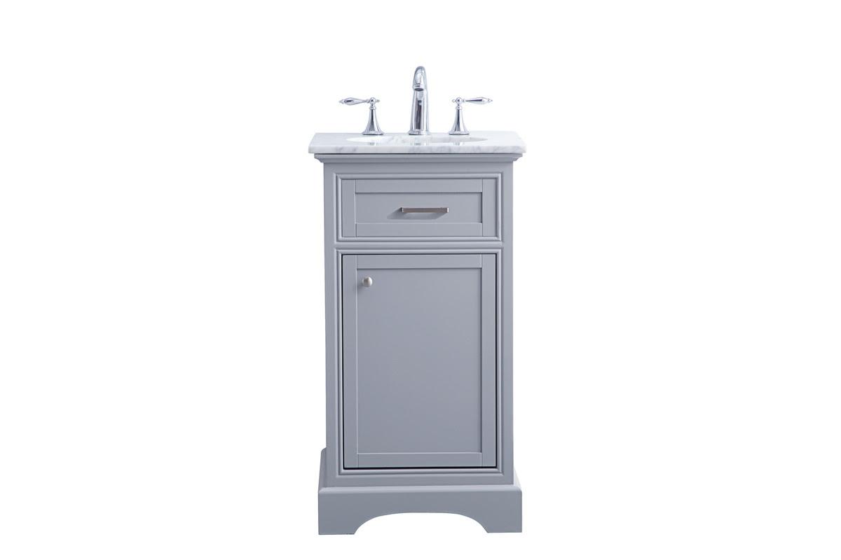 Elegant Decor Americana Light Grey 19 Inch Single Bathroom Vanity Set The Classy Home