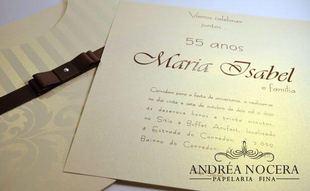 Convite 55 Anos Atelier Andrea Nocera