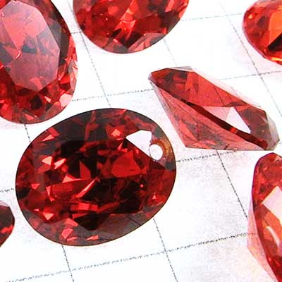 """rt007-05 Cubic Zirconia Drilled Gems - 10 mm Faceted Oval Cut - Padparadscha (1) - <font color=""""#FF0000"""">Discontinued</font> - 70% off!"""
