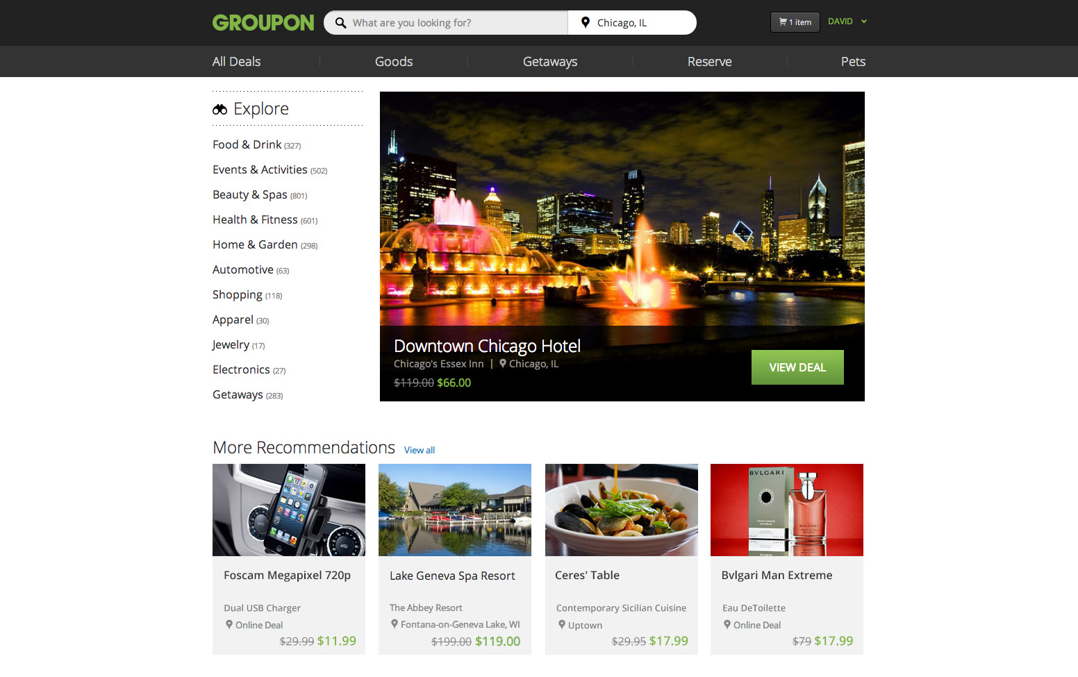 With SearchHeavy Redesign Groupon Acting Like a Deals