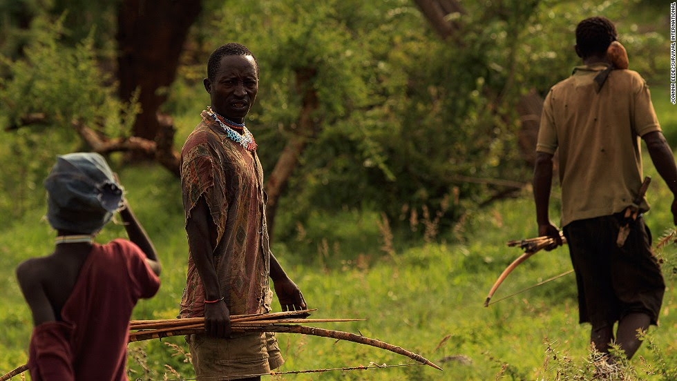 The Hadza people live in a remote part of Northern Tanzania. They have lived in the area for thousands of years, and represent one of the oldest lineages of mankind.