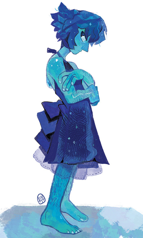Another Lapis! She's just too cool and pretty ahhh~ And the blue color scheme is so nice to do as a warm-up before my other work!