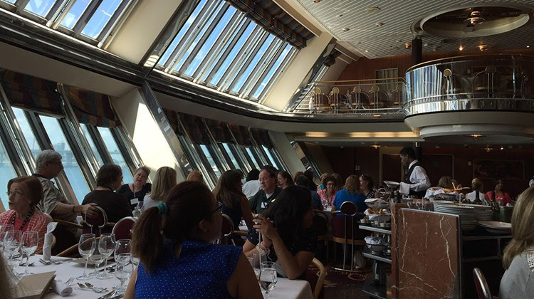 The two-story dining room on the Empress.<br /><br /><strong>Photo Credit: Tom Stieghorst</strong>