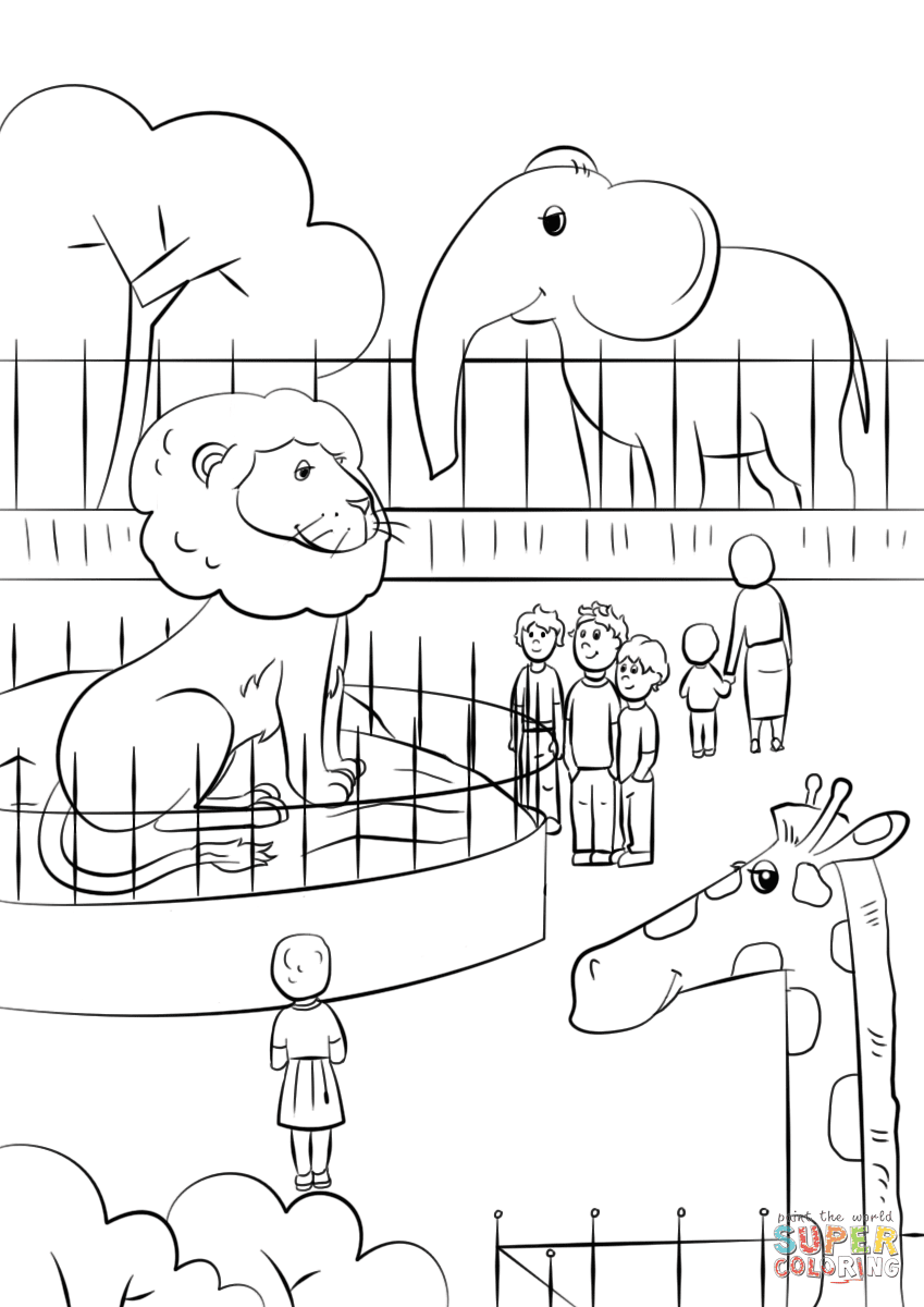 62 Top Coloring Pages Zoo  Images