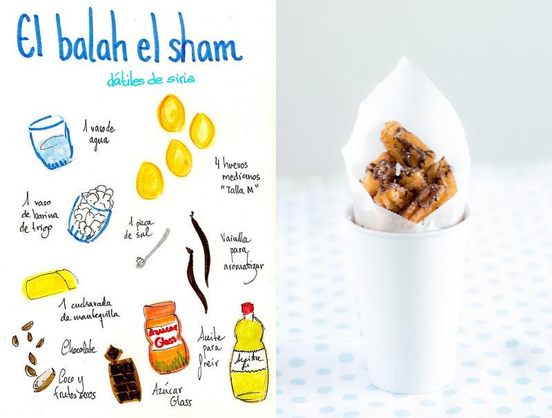 el balah el sham recipe receta