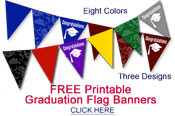 printable graduation party flags