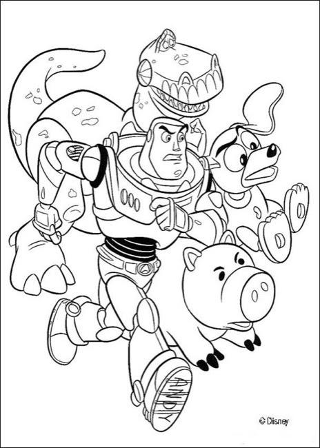 Toy Story Buzz Lightyear, Rex, Slinky Dog, and Hamm ...
