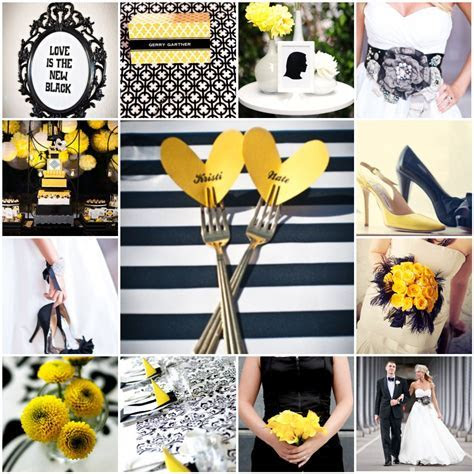 Black, White & Yellow   The Blushing Bride