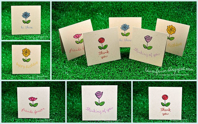 petite florals sophies card set