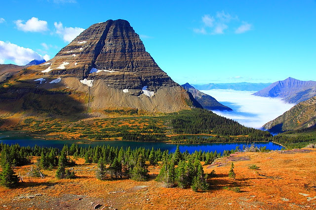 IMG_7743 Hidden Lake and Bearhat Mountain in Autumn, Glacier National Park