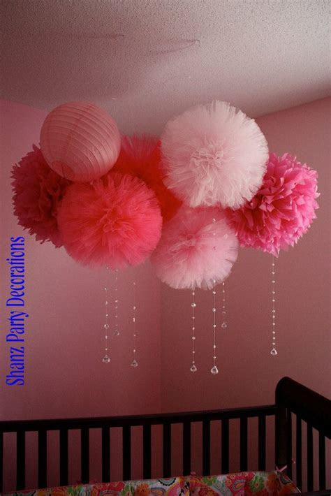 Tulle Pom poms, any color of your choice   baby shower
