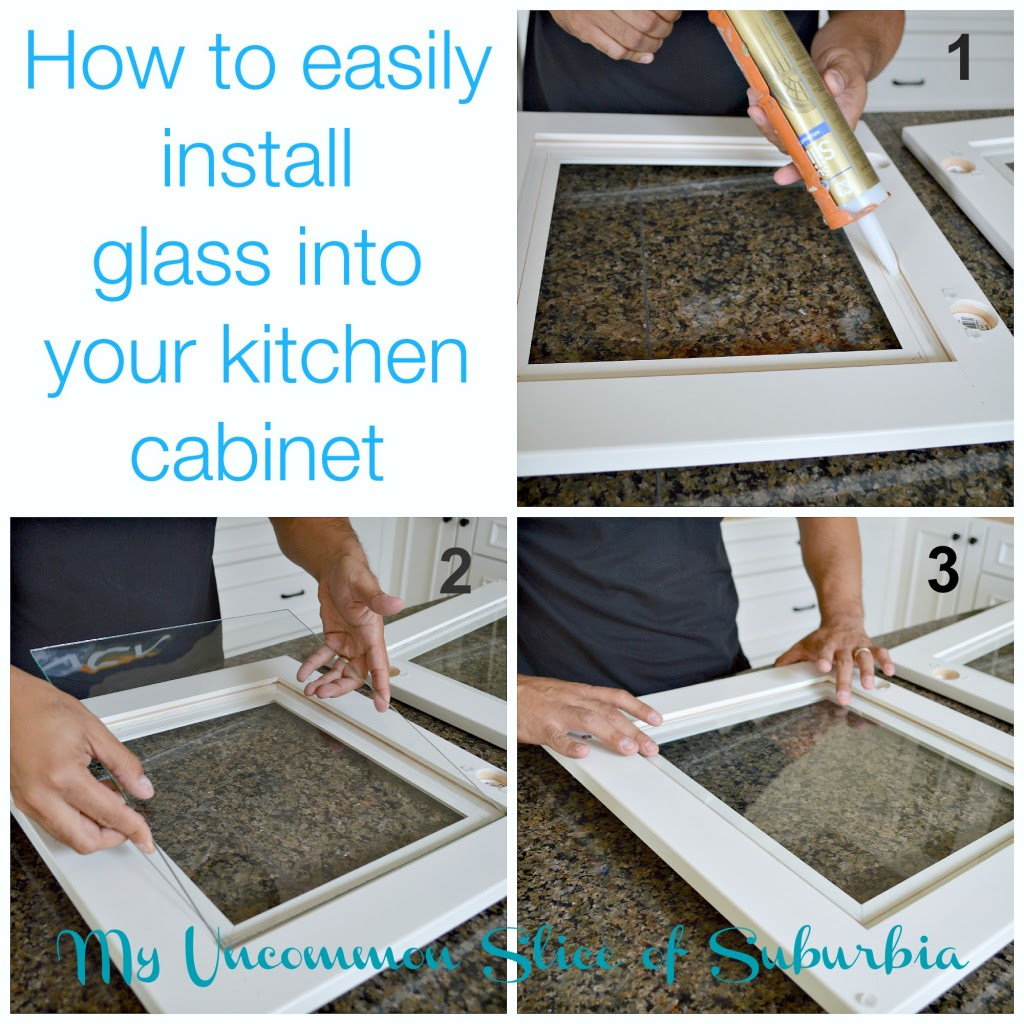 How to add glass inserts into your kitchen cabinets