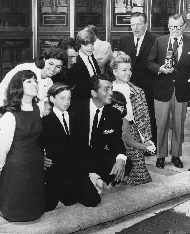 Dean Martin's hand and footprint ceremony at Grauman's Chinese Theater