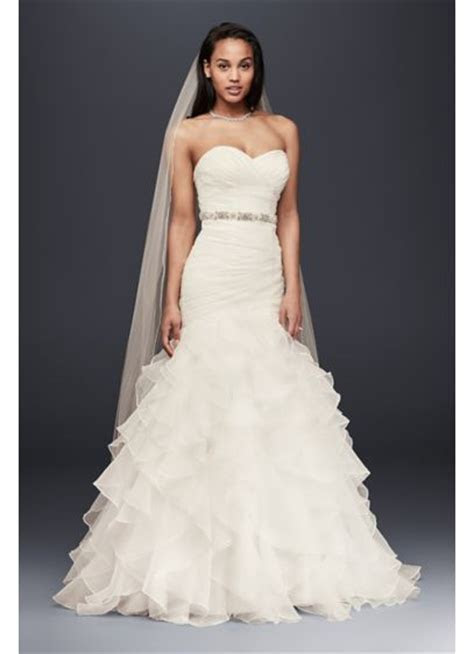 Organza Mermaid Wedding Dress with Ruffled Skirt   David's