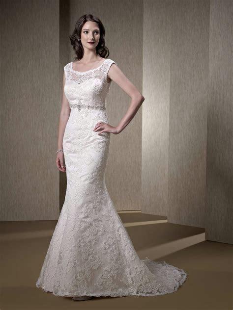 Illusion top wedding dress   weddingcafeny.com
